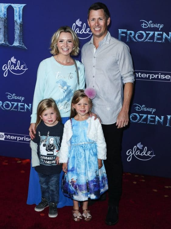 Hutton Michael Cameron, Beverley Mitchell, Kenzie Cameron, Michael Cameron at frozen 2 premiere in LA