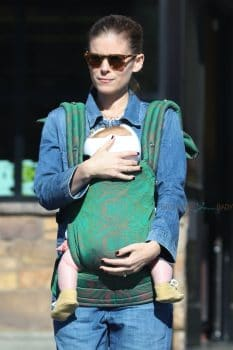 Kate Mara with her daughter out in LA