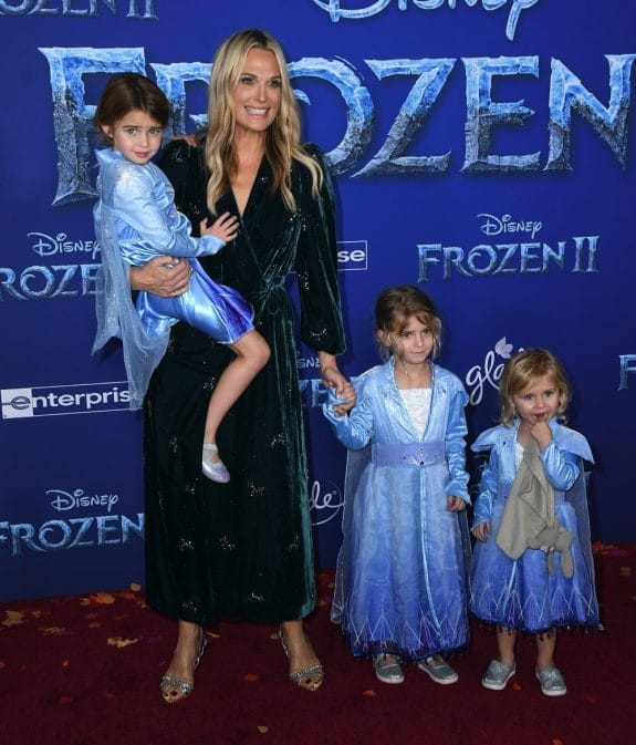 Molly Sims with daughter Scarlett at Frozen 2 premiere in LA