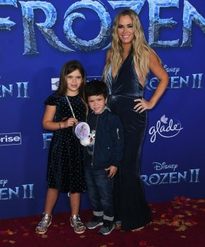 Pregnant Teddi Mellencamp with kids Slate and Cruz and Frozen 2 premiere
