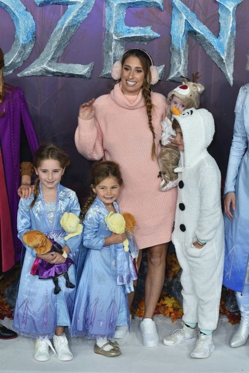 Stacey Solomon - Leighton Barham - Rex Swash at Frozen 2 premiere