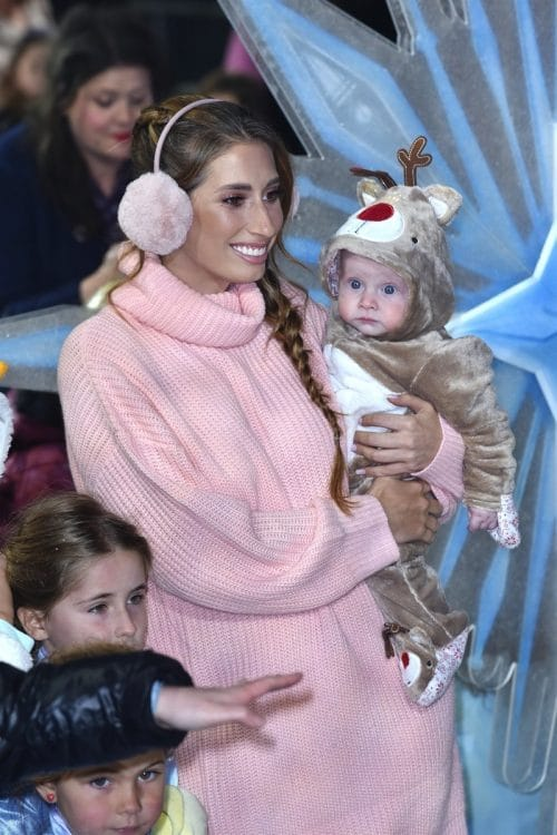 Stacey Solomon - Rex Swash at frozen 2 premere