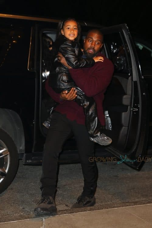 Kanye West carries daughter North in NYC on december 21st, 2019