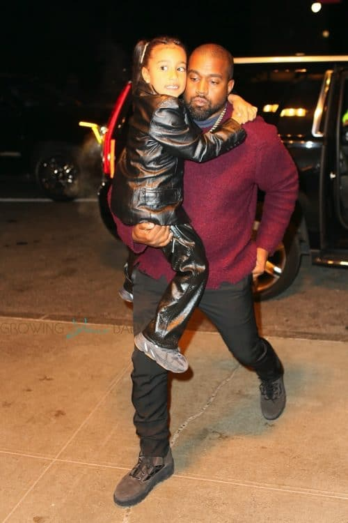 Kanye West out in NYC with daughter North on December 21st, 2019