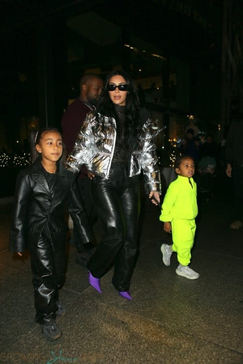 Kim Kardashian West leave Milos restaurant with her kids Saint and North december 21st 2019
