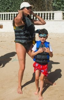 Lauren Silverman Hits The Beach With Son Eric in Barbados