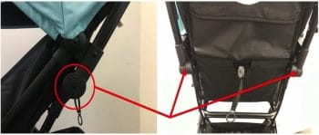 Recalled Tango Mini Stroller hinge joints may release and collapse under excess pressure