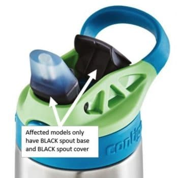 Consumers should immediately stop using the recalled water bottles and the replacement lids provided in the previous recall, take them away from children, and contact Contigo for a free water bottle. Consumers who received replacement lids in the previous recall should contact Contigo for the new water bottle.