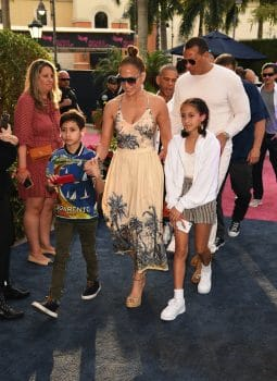 Jennifer Lopez, Alex Rodriguez and the kids attend the 2020 Pegasus World Cup Championship
