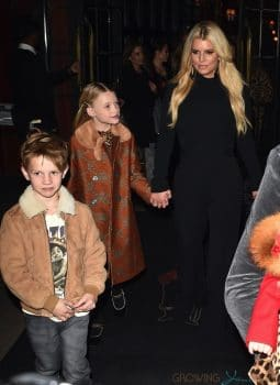 Jessica Simpson leaves the Bowery Hotel in NYC with daughter maxwell and son Ace