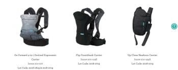 RECALL 14,000 Infantino Infant Carriers Due to Fall Hazard