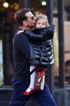 Dad Bradley Cooper Smooches his daughter Daughter Lea