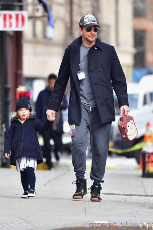 Dad Bradley Cooper steps out in NYC with Daughter Lea