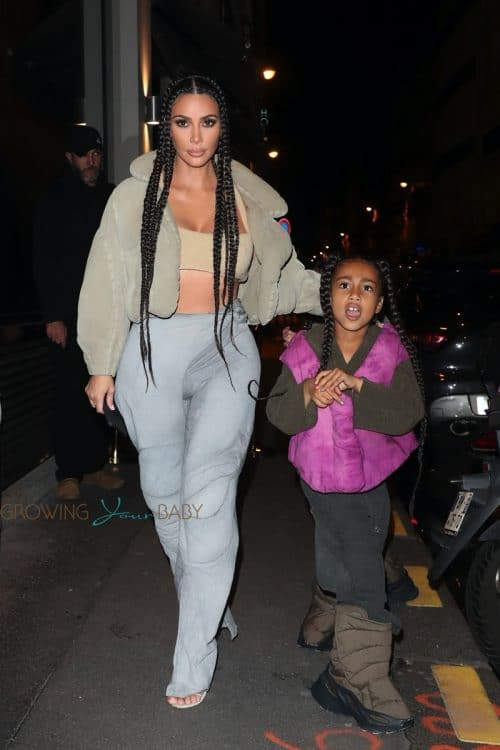Kim Kardashian, North West, arrive at the Yeezy Season 8 after party