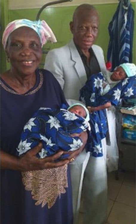 Nigerian Woman Gives Birth To Twins At 68