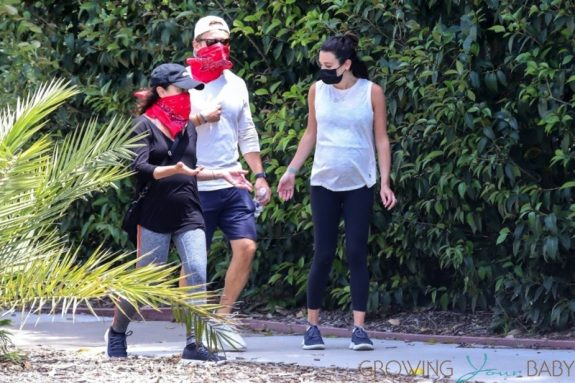 Pregnant Lea Michele and Zandy Reich take a hike with her mom
