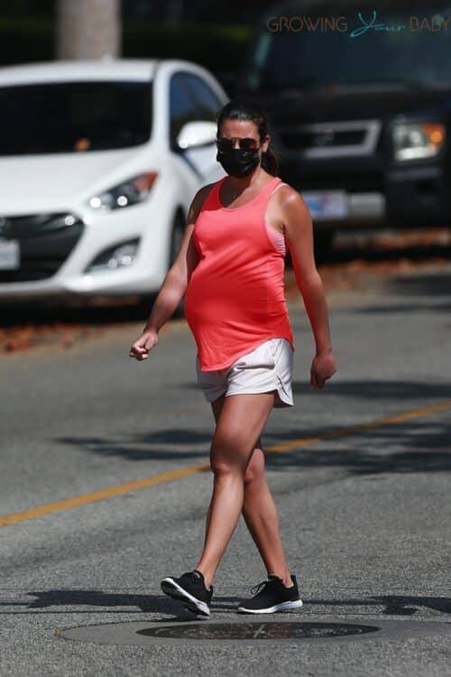 Pregnant Lea Michelle out in LA
