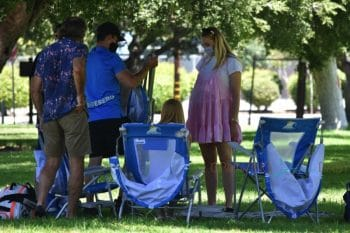 Pregnant Sophie Turner and Joe Jonas Visits With Family At The Park at the park in Los Angeles