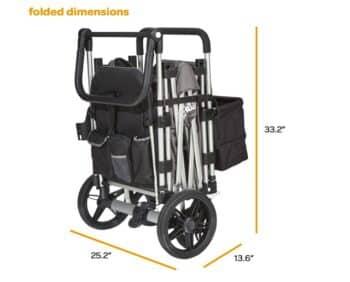 larktake caravan stroller wagon folded