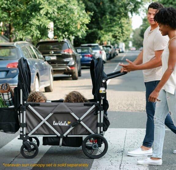 larktake caravan stroller wagon on the go