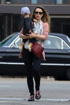 Rachel McAdams runs errands with her son in Los Feliz