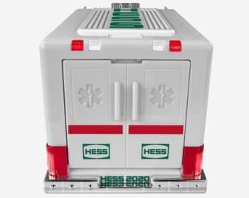 Hess 2020 Ambulance and Rescue Playset - back of ambulance