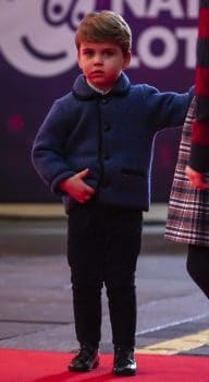 Prince Louis at a show in London