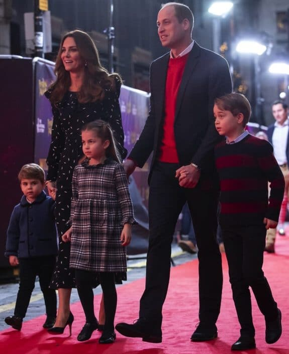 The Duke and Duchess of Cambridge and Prince George, Princess Charlotte and Prince Louis At show in London