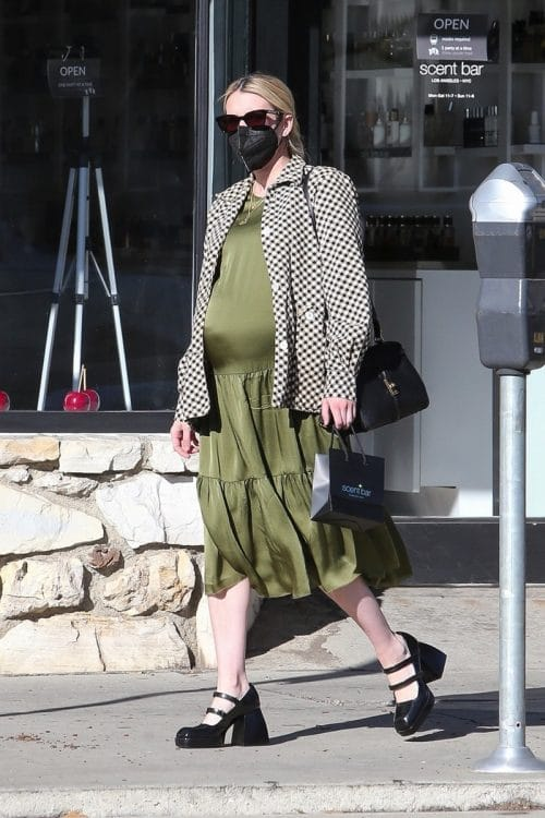 Very Pregnant Emma Roberts out shopping