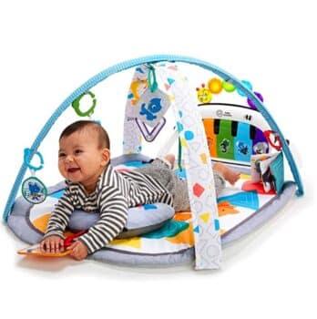 Baby Einstein 4-in-1 Kickin' Tunes Music and Language Discovery Gym - tummy time