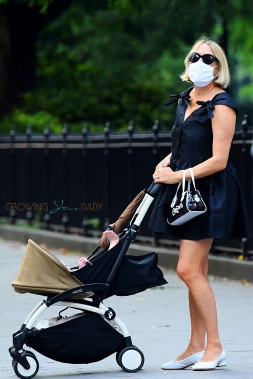Chloe Sevigny goes out for a stylish stroll with her son in SoHo