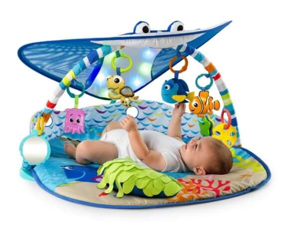 Disney Baby Mr. Ray Ocean Lights Activity Gym - lit up