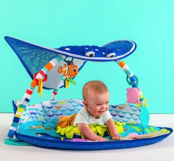 Disney Baby Mr. Ray Ocean Lights Activity Gym - tummy time