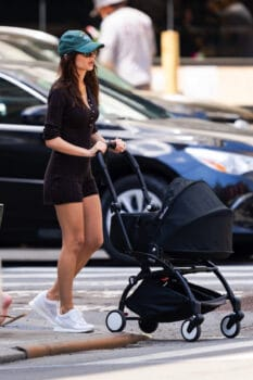 Emily Ratajowski out for a stroll with her baby Sylvester in New York City