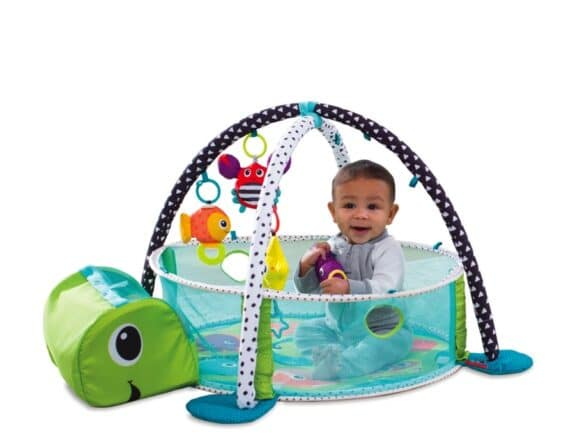 Inglesina Grow-With-Me Activity Gym & Ball Pit - infant with mesh