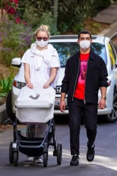 Joe Jonas and Sophie Turner enjoy daily walks with their four-month-old daughter Willa