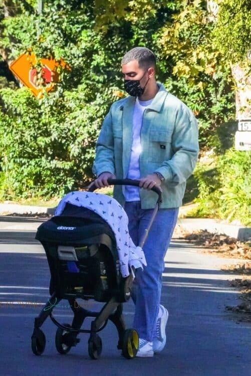 Joe Jonas baby Willa in a Doona