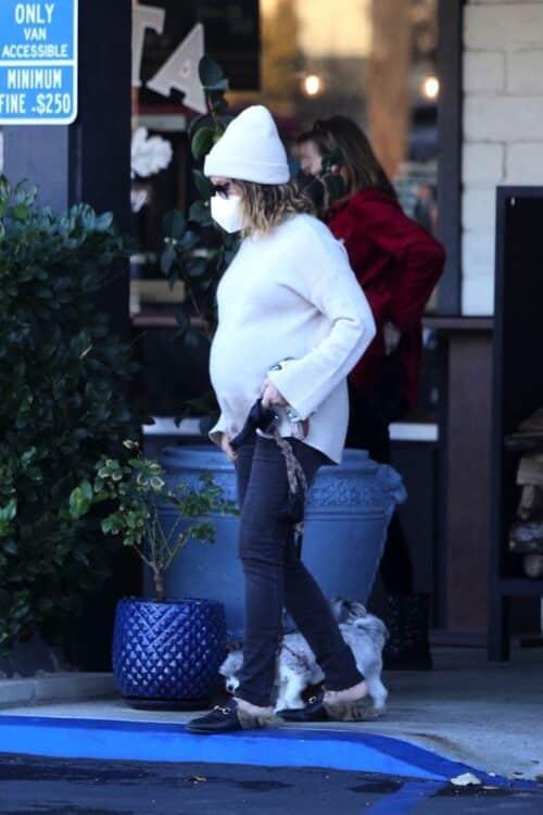 Pregnant Ashley Tisdale out in LA
