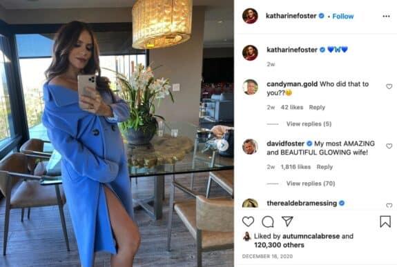 Pregnant Katharine McPhee instagram