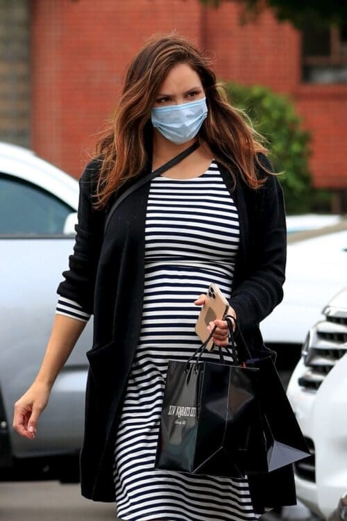 Pregnant Katharine McPhee out in LA