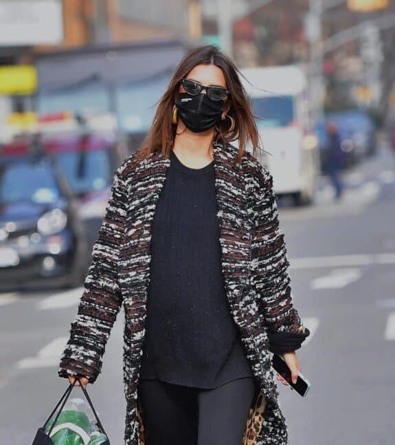 pregnant Emily Ratajkowski out in NYC