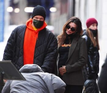 Emily Ratajkowski shows off her baby bump as she steps out with hubby Sebastian Bear-McClard