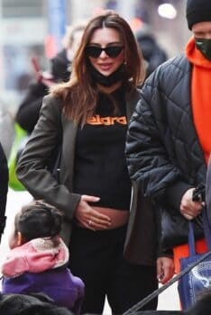 Emily Ratajkowski shows off her baby bump in NYC