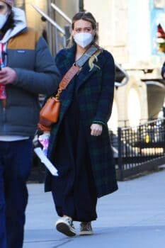 """Hilary Duff on the """"Younger"""" set in SoHo"""