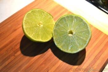 Homemade guacamole - limes