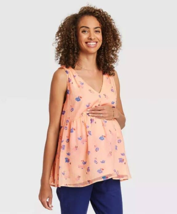 Pregnancy Style For Under $40 - The Nines by Hatch at Target flowy tank top