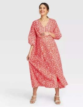 Pregnancy Style For Under $40 - The Nines by Hatch at Target flowy dress