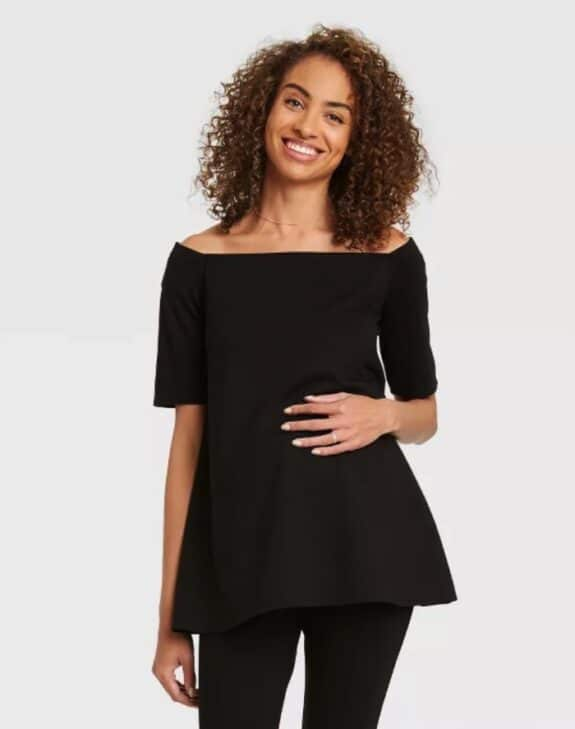 Pregnancy Style For Under $40 - The Nines by Hatch at Target off thw shoulder