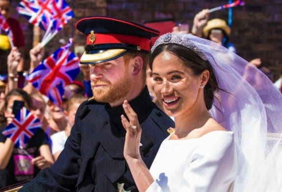 Prince Harry and Meghan at their wedding