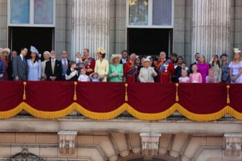 The Royal family is seen at The Trooping of The Colour 2019